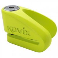 Bloccadisco Kovix in lega di zinco perno 10mm Verde Fluo
