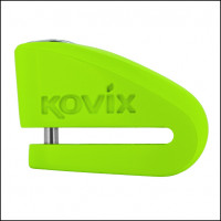Bloccadisco Kovix KVZ1 in lega di zinco perno 6 mm verde fluo