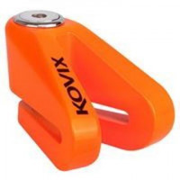 Bloccadisco Kovix KVZ1 in lega di zinco perno 6mm arancio