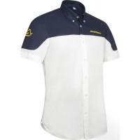 Camicia manica corta Acerbis Team Bianco Blu