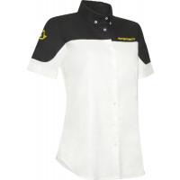 Camicia manica corta Acerbis Team Bianco Nero