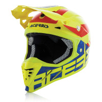 Casco cross Acerbis Blackmamba Profile 3.0 Lucido Giallo Fluo blu