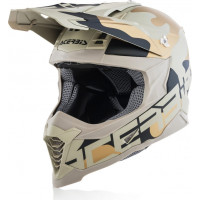 Casco cross Acerbis IMPACT X-RACER VTR in fibra Camo Marrone