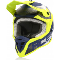 Casco cross Acerbis LINEAR Giallo Blu