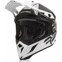 Casco cross Acerbis STEEL CARBON Bianco Nero
