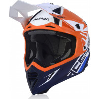 Casco cross Acerbis X-TRACK VTR in fibra Aranco Blu