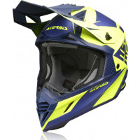 Casco cross Acerbis X-Track VTR in fibra Blu Giallo