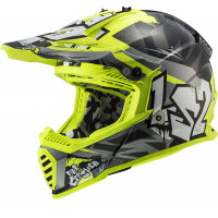 Casco cross bambino LS2 MX437 FAST EVO MINI CRUSHER Nero Giallo