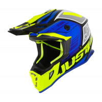 Casco cross Just1 J38 Blade Blu Giallo Nero