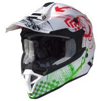 Casco cross Premier Exige RX 8 Bianco verde rosso