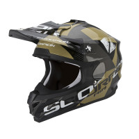 Casco cross Scorpion VX 15 EVO Air Akra Nero Marrone