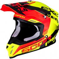 Casco cross Scorpion VX 16 AIR ARHUS Neon Giallo Rosso Neon