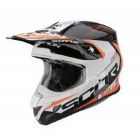 Casco cross Scorpion VX 20 Air Tactik Nero Arancio