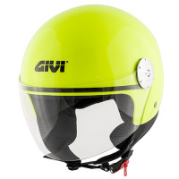 Casco demi-jet Givi 10.7 Mini-J giallo neon