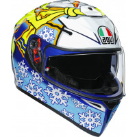 Casco integrale AGV K-3 SV MPLK TOP ROSSI WINTER TEST 2016 con Maxi Pinlock