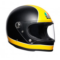 Casco integrale AGV Legends X3000 E2205 MULTI SUPER AGV in fibra Nero opaco Giallo