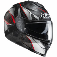 Casco integrale HJC IS-17 DAUGAVA MC1SF Nero Rosso