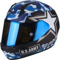 Casco integrale Scorpion EXO 390 ARMY Nero Opaco Blu