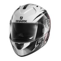Casco integrale Shark Ridill Finks bianco nero rosso