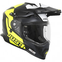 Casco integrale touring Just1 J34 Pro Tour Giallo fluo Nero opaco