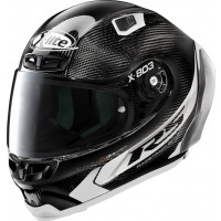 Casco integrale X-Lite X-803 RS Ultra Carbon HOT LAP Carbon Bianco