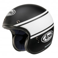 Casco jet Arai FREEWAY CLASSIC BANDAGE in fibra Nero