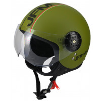 Casco jet JFM 410VM Fashion Verde Militare