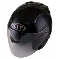 Casco jet Kyt by Suomy Hellcat Plain nero lucido