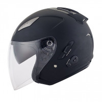 Casco jet Kyt by Suomy Hellcat Plain nero opaco