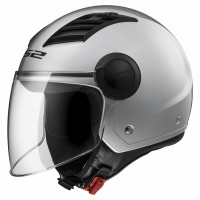 Casco jet LS2 OF562 Airflow L Argento