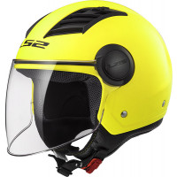 Casco jet LS2 OF562 AIRFLOW L MATT Giallo HiVis