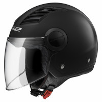 Casco jet LS2 OF562 Airflow L Nero Opaco