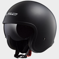 Casco jet LS2 OF599 Spitfire nero opaco