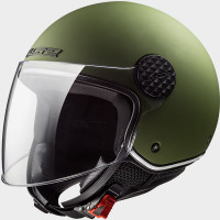 Casco jet LS2 SPHERE LUX Solid Verde militare Opaco