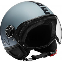 Casco jet Momo Design Fighter CLASSIC Grigio Nero opaco