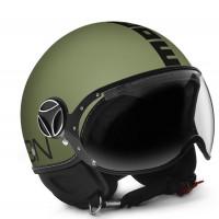 Casco jet Momo Design Fighter Classic verde militare opaco nero