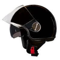 Casco jet One Eden Nero lucido