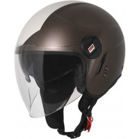 Casco jet Origine Alpha Next Beige Marrone