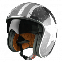 Casco jet Origine Sprint Rebel Star grigio opaco