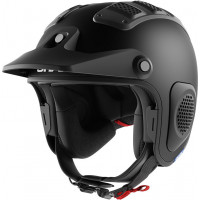 Casco jet Shark ATV-DRAK Mat off-road in fibra Nero Opaco
