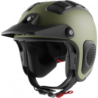 Casco jet Shark ATV-DRAK Mat off-road in fibra Verde Opaco