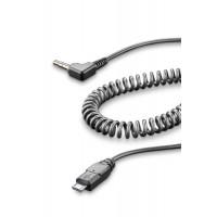 Cavo spiralato Aux da Micro Usb a Jack 3,5 mm Cellular Line per interfoni Tour Sport Urban