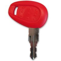 Chiave serratura Givi Z661G grezza per E52 e V46 non cifrata per duplicazione Rossa
