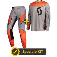 Completo cross Maglia + Pantaloni Scott 350 Dirt Grigio Arancio