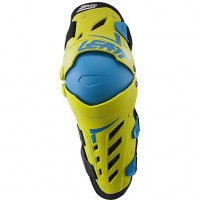 Coppia di ginocchiere e para stinco cross Leatt Dual Axis Verde Lime Blu