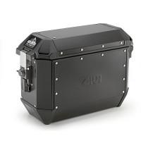 Coppia di valigie laterali monokey Givi ALA36APACK2 TREKKER ALASKA Black Line 36 litri in alluminio Nero