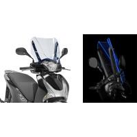 Cupolino Ice Givi D1128BL per Honda SH125-150 blu fluorescente