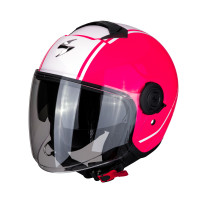 Casco jet Scorpion EXO CITY AVENUE Rosa Bianco
