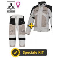 Kit Freezer Lady CE Grigio - Giacca moto donna Befast estiva + Pantaloni moto donna Befast estivi