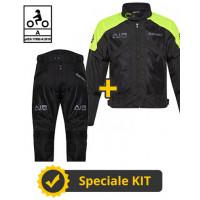 Kit Freezer Man CE Nero Giallo - Giacca moto Befast estiva + Pantaloni moto Befast estivi